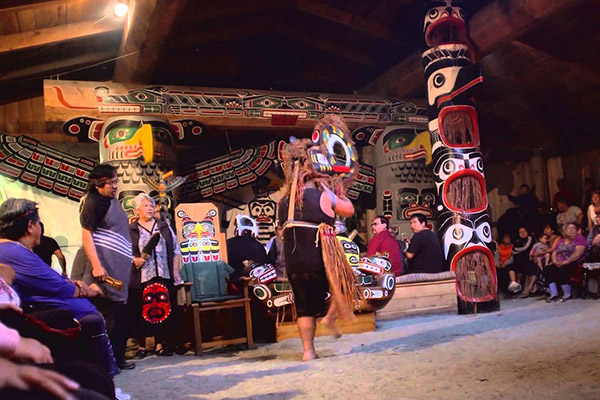 TRADITIONAL POTLACH WITH NATIVE INDIANS