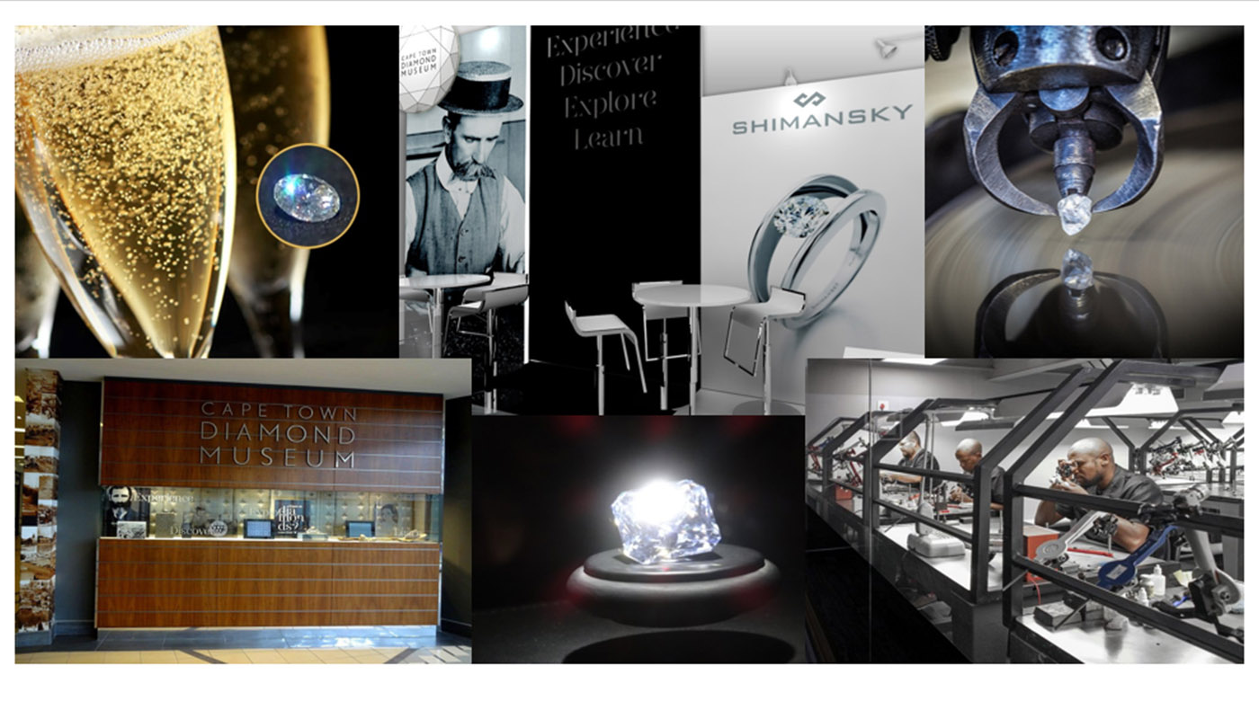 VISIT DIAMOND INDUSTRY & FIND 1 IN YOUR CHAMPAGNE GLASS !