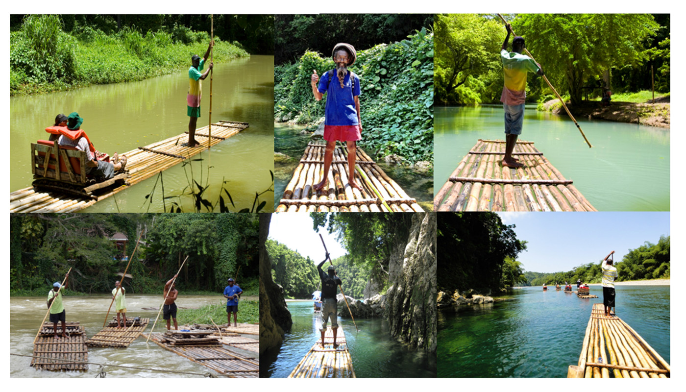 EXPERIENCE BAMBOO RAFTING ON THE RIVER